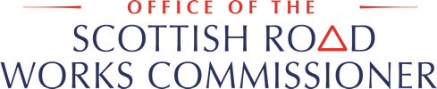 Link to homepage (Office of the Scottish Road Works Commissioner logo)